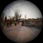 Вид из Александровского сада на Манежную площадь