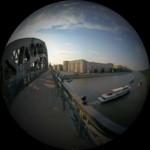 Вид с Новоандреевского моста на Нескучный сад